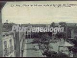 Plaza del alcázar de ávila vista desde el torreón del homnaje