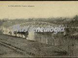 Vista panorámica del puente colgante de valladolid