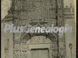 Vista vertical de la fachada de san gregorio de valladolid