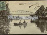 Puente de hierro sobre el río de valladolid