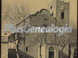 Vista vertical de la Iglesia parroquial de Arenys de Munt (Barcelona)