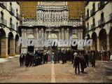 La procesión del Domingo de Ramos entrando en la Iglesia de Montserrat (Barcelona)