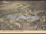 Vista aerea de la barriada de san pedro de galligáns de girona