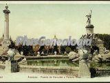 Fuente de Hércules y al fondo el Palacio Real de Aranjuez (Madrid)