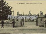 Entrada del Jardín de la isla de Aranjuez (Madrid)