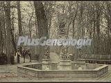 Jardín de la Isla con la Fuente de Neptuno en los Jardines del Palacio de Aranjuez (Madrid)