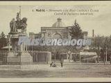 Monumento a los Reyes Católicos y Escuela Central de Ingenieros Industriales de Madrid