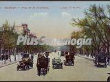Coches en el Paseo de la Castellana en Madrid