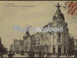 El Fénix español y calle de Alcalá en Madrid
