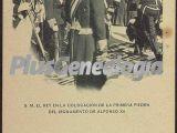 S.M. el Rey en la colocación de la primera piedra del Monumento de Alfonso XII en Madrid
