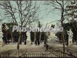 Jardines de la Plaza de Oriente en Madrid