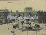 Plaza de castelar y calle de alcalá en madrid