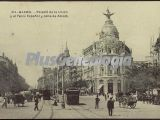 Palacio de la Unión y Fénix español y Calle de Alcalá en Madrid