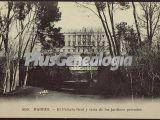 El Palacio Real y vista de los Jardines Privados en Madrid