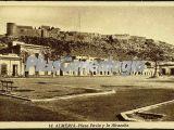 Plaza pavia y la alcazaba de almería