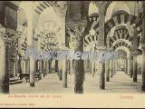 Interior lado del levante de la mezquita de córdoba