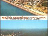 Vista aérea de la playa de matalascañas (huelva)