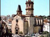 Plaza de la Iglesia en Arenys de mar (Barcelona)