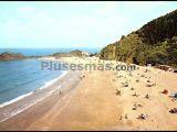 Playa de santurraran en motrico (guipuzcoa)