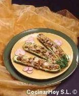 Calabacines rellenos a la turca
