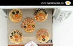 Vídeo receta: caras de pizza