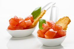 Cucharas de tomate natural