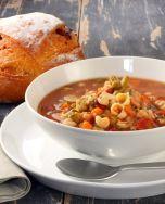 Sopa de pasta con verduras