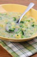 Sopa de brócoli con patatas
