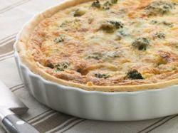 Quiché de brócoli y queso roquefort