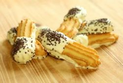 Galletas con chocolate blanco