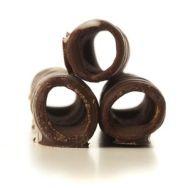 Barquillos bañados con chocolate