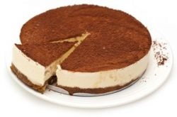 Tarta de queso con cacao