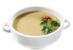 Crema de cebolla y nuez