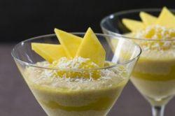 Crema de mango y coco