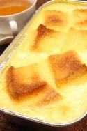 Pudin de pan de molde y vainilla