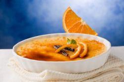 Crema catalana con naranja