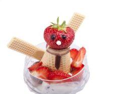 Muñeco helado de stracciatella