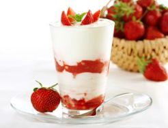 Batido de yogur y fresas