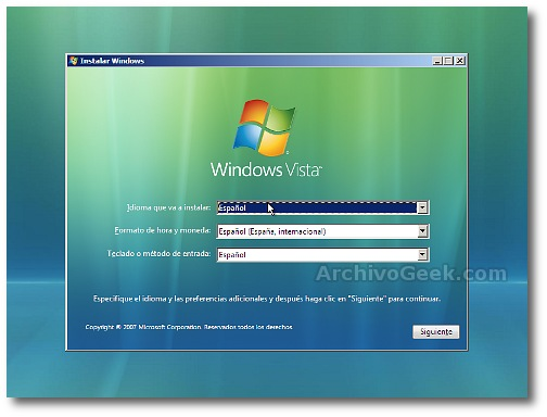 Instalar Windows 7
