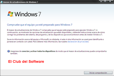 Asesor de instalaciones Windows 7