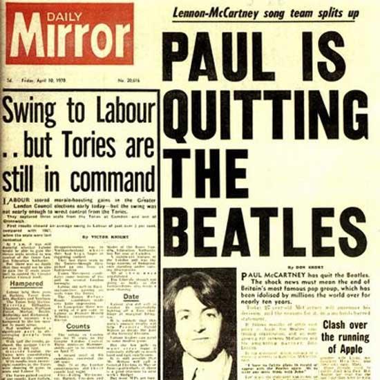 Paul deja los beatles