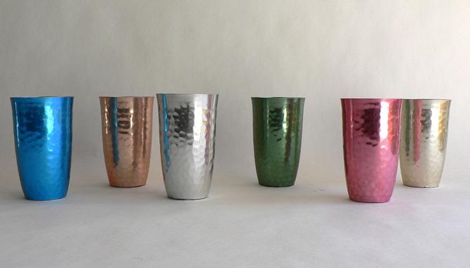 Vasos de aluminio años 60