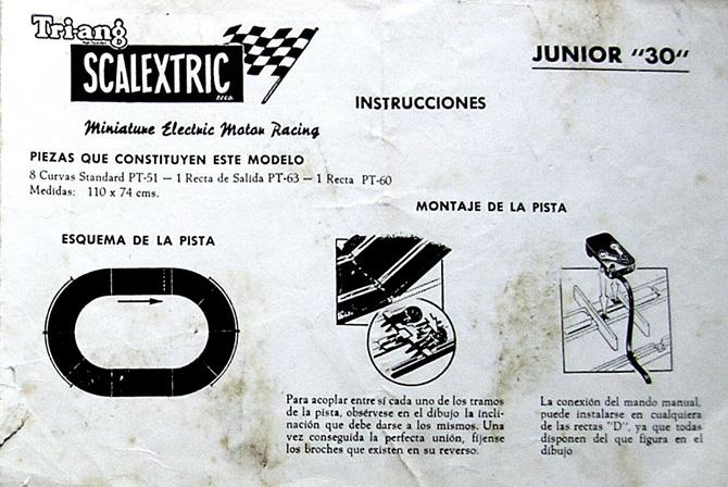Instrucciones circuito Scalextric J30