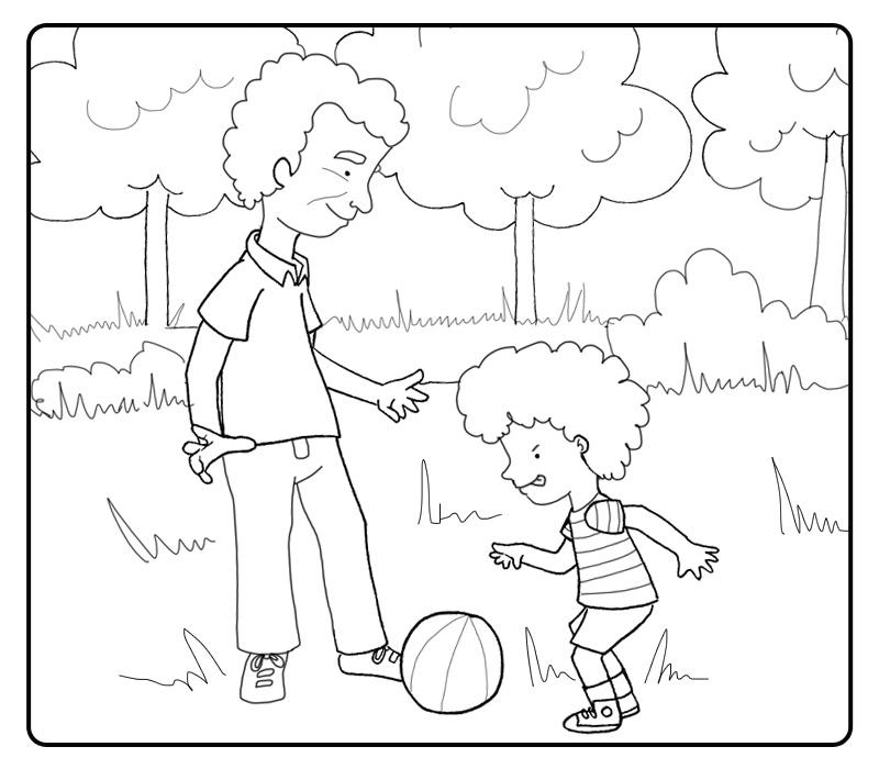 Niño Jugando Futbol Dibujo Imagui