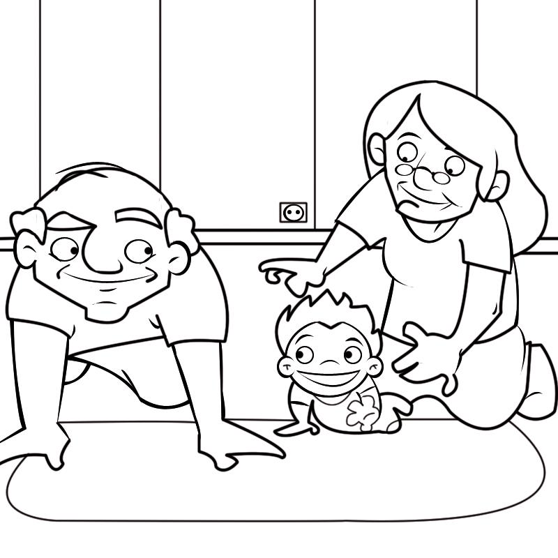 Ocio en casa, Colorear con niños y nietos. Plusesmas.com. Página 25