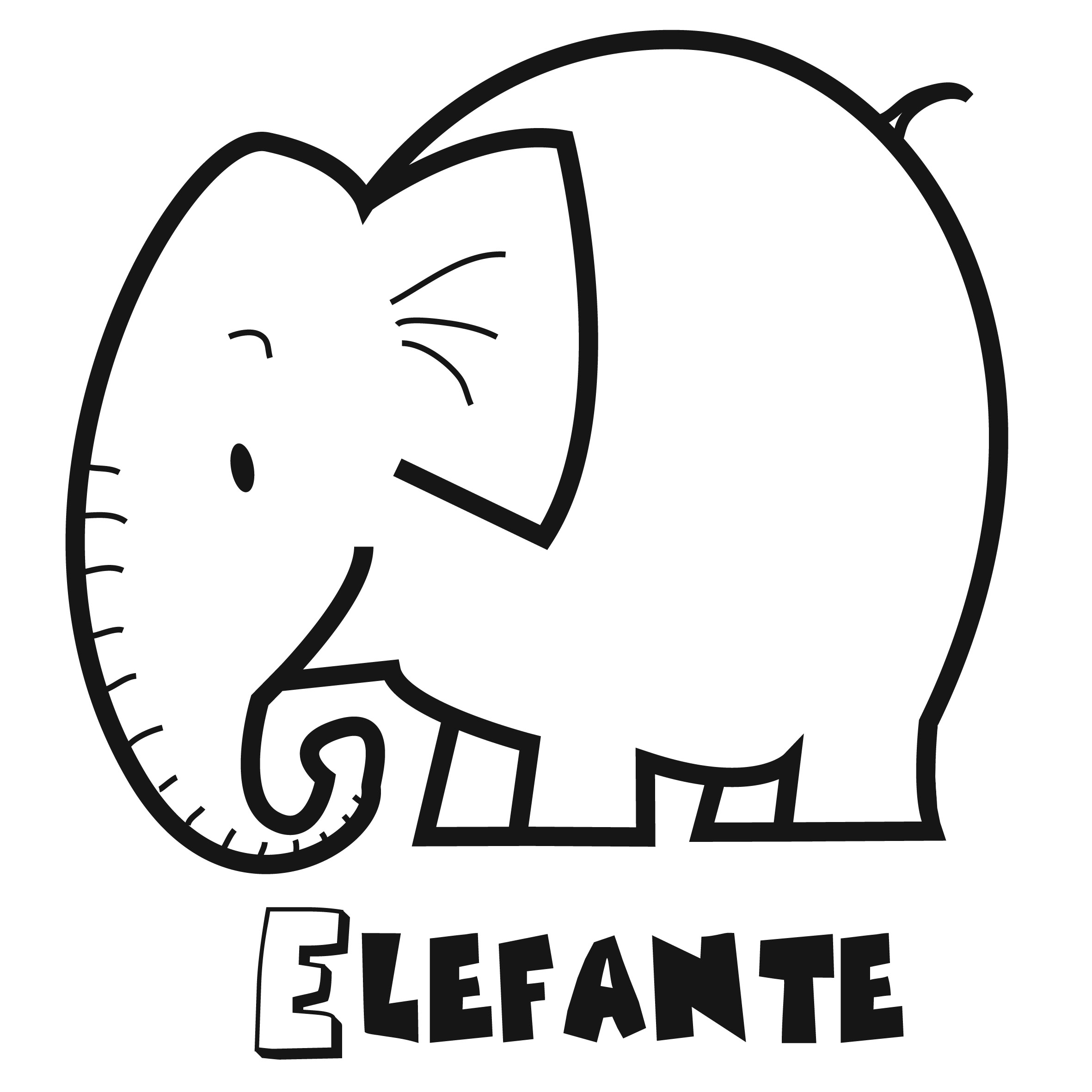 Download - Colorear Elefante 2.
