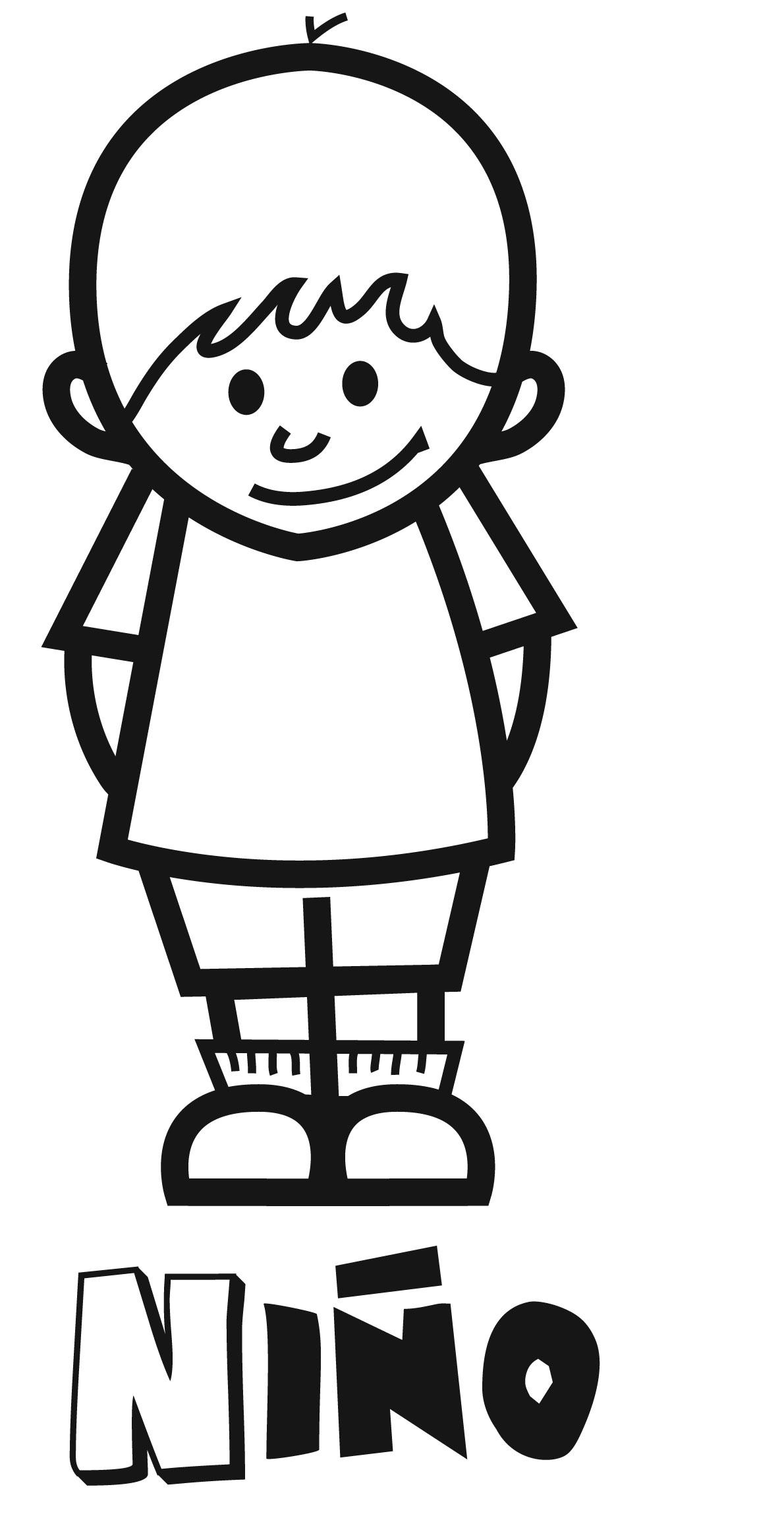 Dibujos con niños: Colorear a un niño