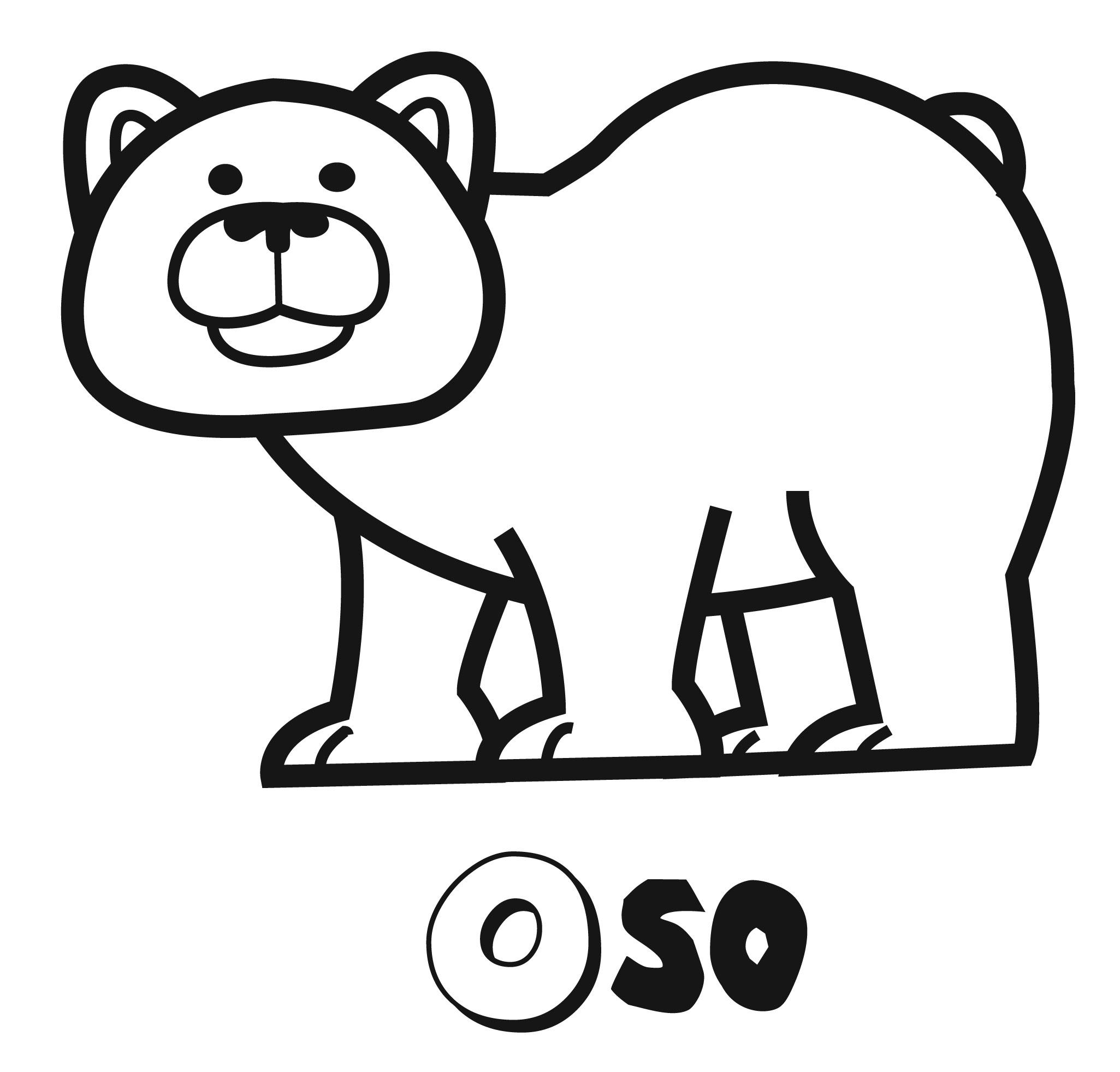 Dibujos con niños: Colorear el oso